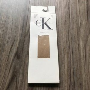 5/$15 NWT 2 pairs Calvin Klein knee highs nude